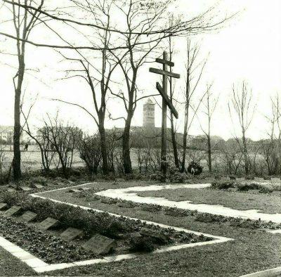 Zwangsarbeitergräber auf dem städtischen Friedhof Rheydt, 1966