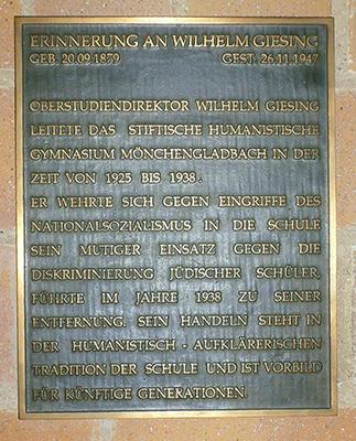 Erinnerung Wilhelm Giesing