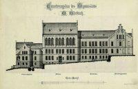 Blaupause des Schulgebäudes