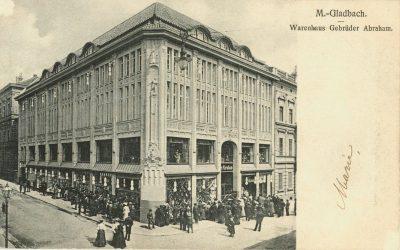 Außenansicht des Kaufhauses Abraham, ca. 1920