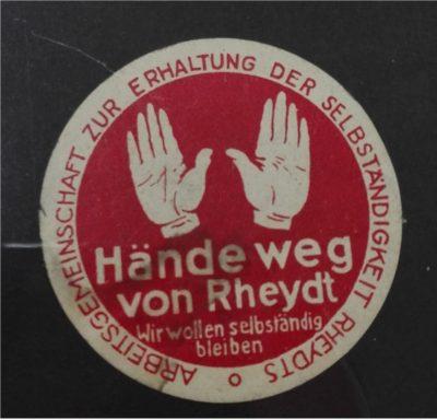 Rheydter Schild gegen Gladbach, 1933